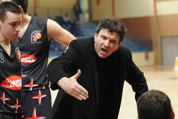 Milovic at basketball match TCG Mercator - Epic Misel , played at Poden sports hall , Skofja Loka , 31.01.2009